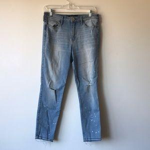 Hollister Bleach Splatter Jeans